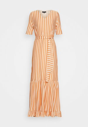 SLFSABINE SLEEVE MIDI DRESS - Vestido largo - sandshell/caramel