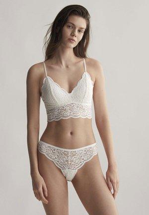 Triangle bra - white