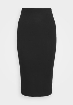 BODYCON TAPE DETAIL SKIRT - Pencil skirt - black
