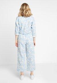 Moss Copenhagen - GRO CULOTTE - Trousers - blue - 2