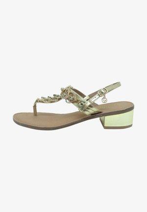 T-bar sandals - platinum