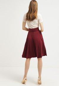 Anna Field - A-line skirt - burgundy - 2