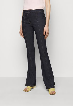 LONG KIRIM PANT - Flared Jeans - indigo
