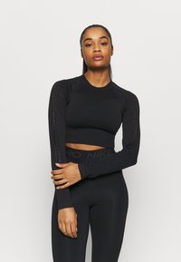 Even&Odd active - Long sleeved top - black - 0