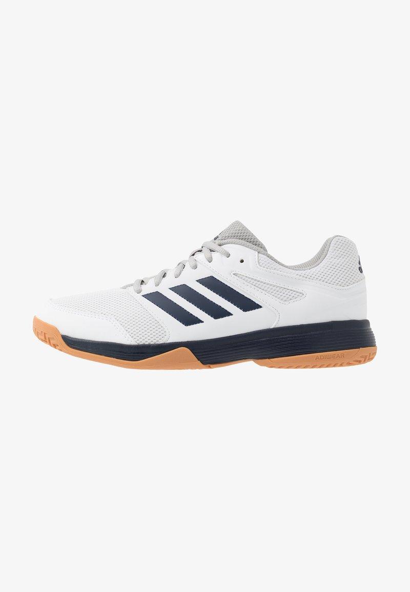 adidas Performance - SPEEDCOURT INDOOR SPORTS - Zapatillas de voleibol - footwear white/collegiate navy