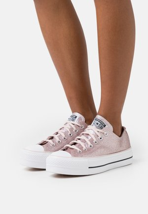 CHUCK TAYLOR ALL STAR PLATFORM GLITTER - Joggesko - silt red/black/white