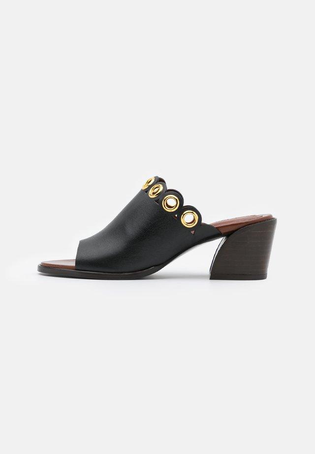 STEFFI MULE - Pantolette hoch - black