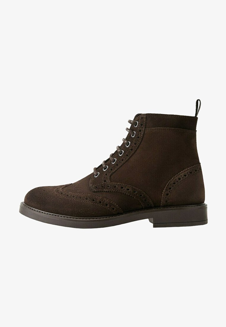Mango - PICADOS - Lace-up ankle boots - braun
