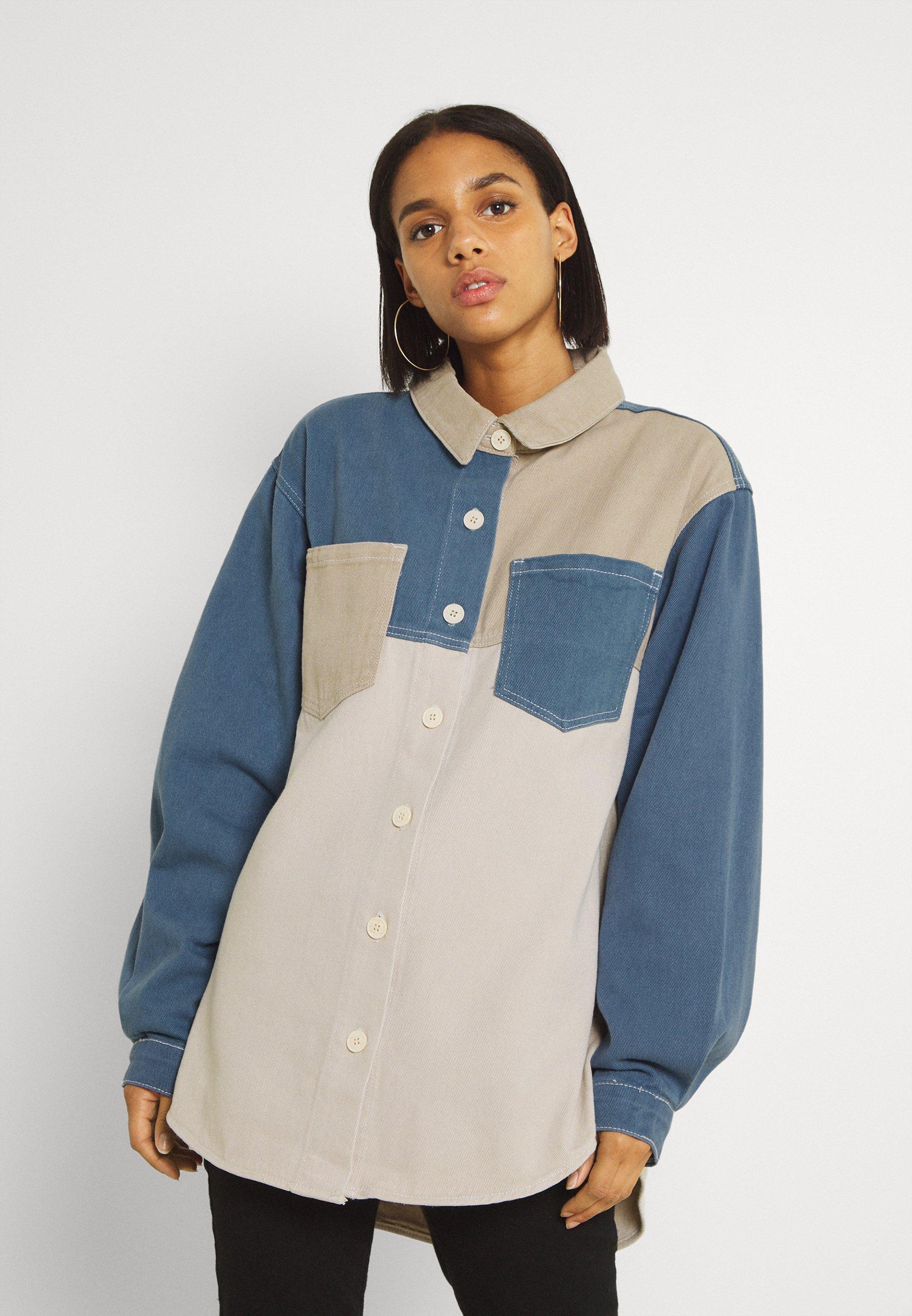 Women COLOURBLOCK OVERSIZED SHIRT - Button-down blouse