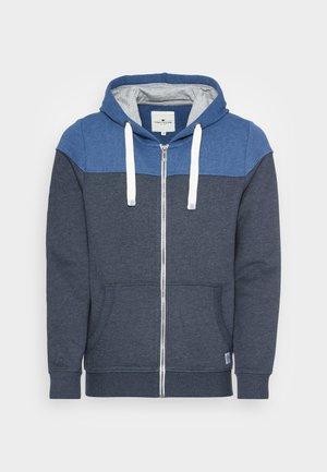 COLORBLOCK ZIPPER JACKET - Zip-up sweatshirt - dark blue