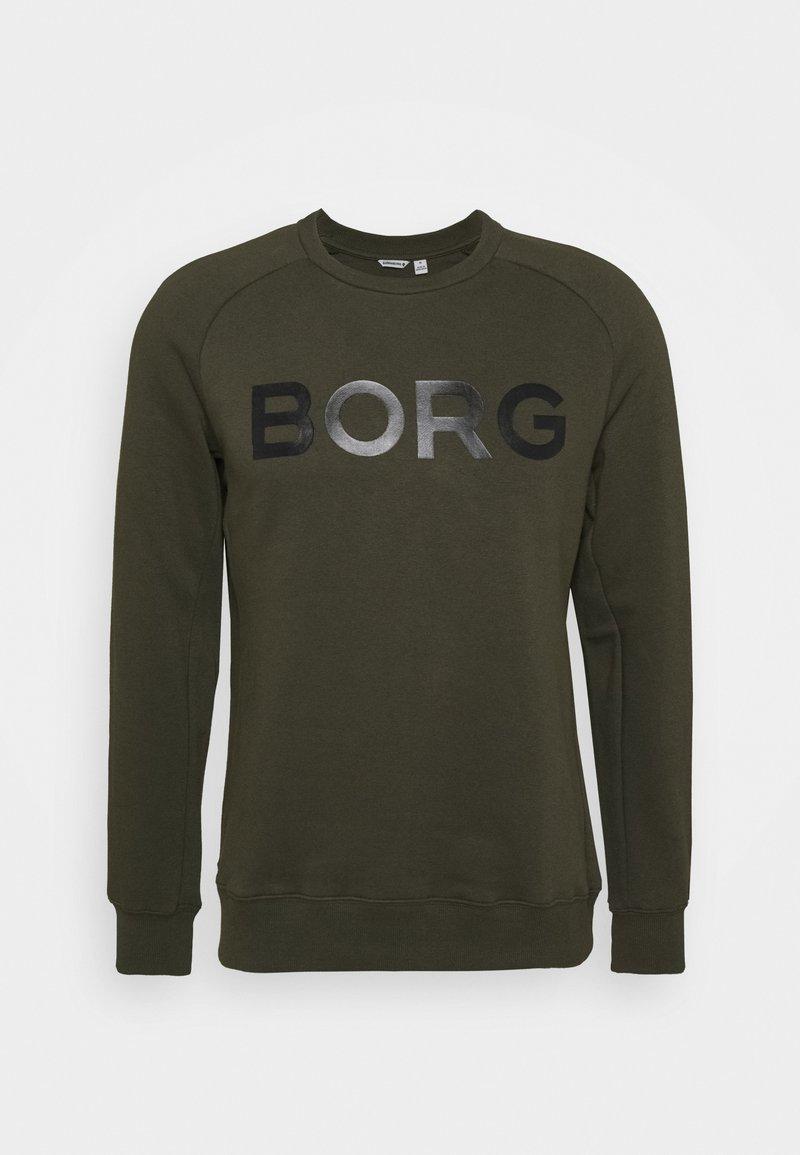 Björn Borg - LOGO CREW - Sweatshirt - forest night