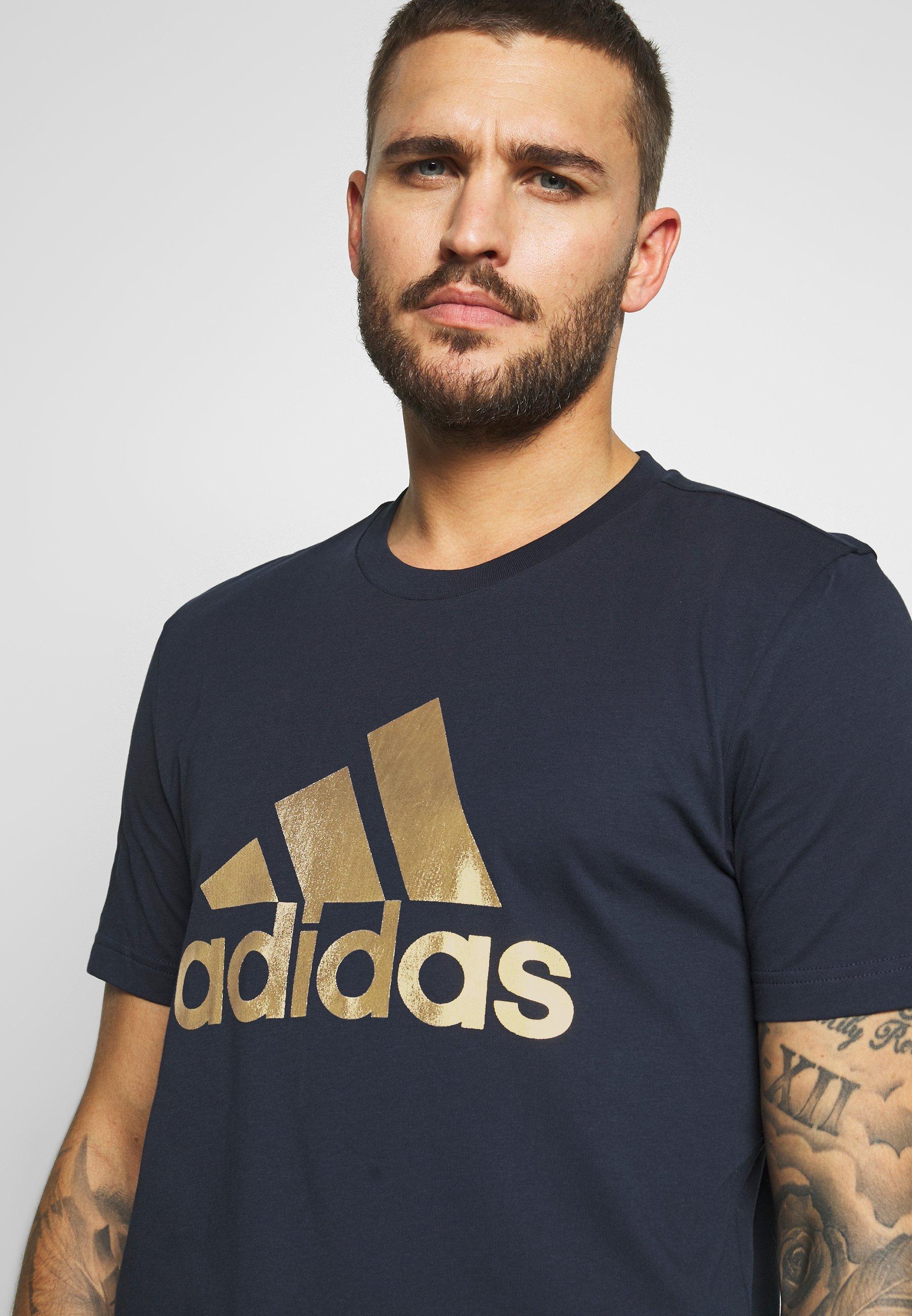 adidas Performance 8 BIT FOIL T Shirt print dark blue