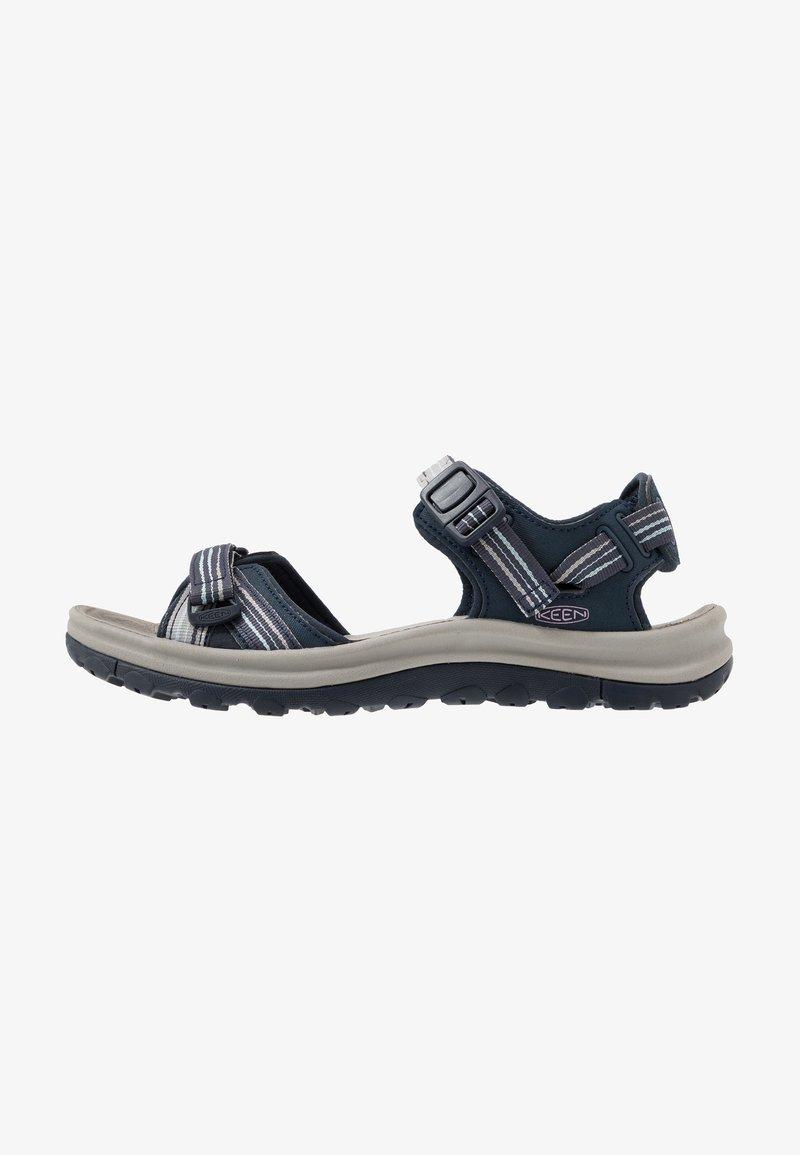 Keen - TERRADORA II OPEN TOE - Walking sandals - navy/light blue