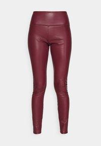 Hollister Co. - Leggings - Trousers - burgundy leather - 4