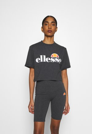 ALBERTA - Print T-shirt - dark grey marl