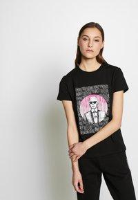 KARL LAGERFELD - ENDLESS - T-shirt z nadrukiem - black - 0