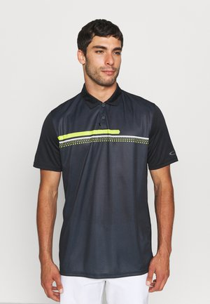 HEXSPLIT STRIPE - Poloshirt - blackout
