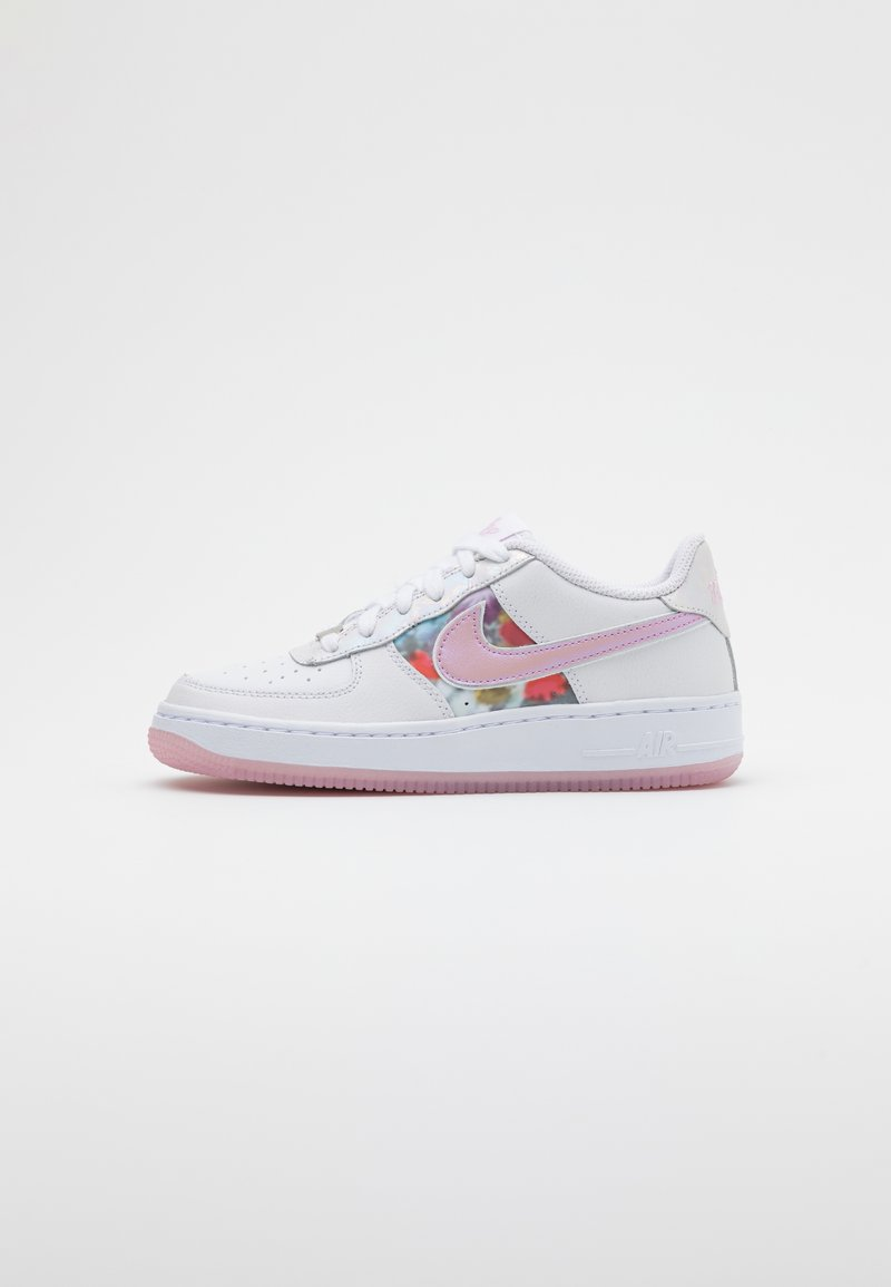 Nike Sportswear - AIR FORCE 1 - Trainers - white/light arctic pink/metallic silver