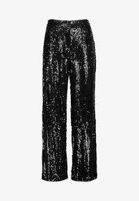 MIT PAILLETTEN - Trousers - Black