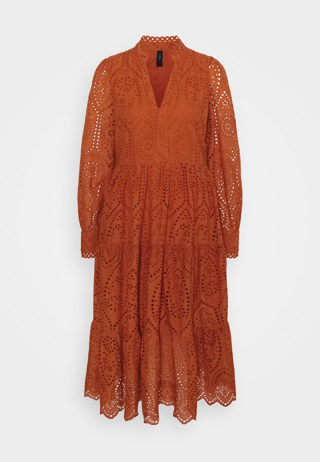 YASHOLI DRESS BOHO - Maxi dress - red ochre