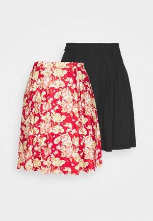 VIBE SHORT SKIRT 2 PACK - Mini skirt - black/scarlet flame