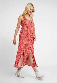 Topshop Maternity - SPLIT FRONT - Day dress - red - 0
