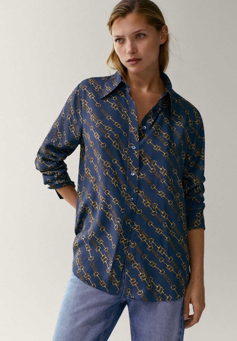 Massimo Dutti - Button-down blouse - multi-coloured