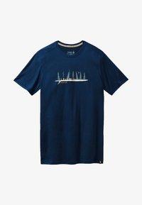 Smartwool - T-shirt print - deep navy - 2