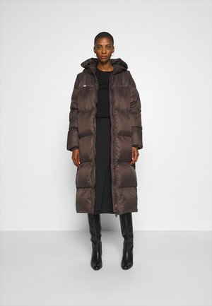 Down coat - brown
