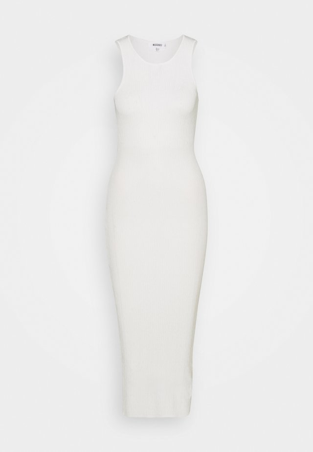 TEXTURED DRESS - Robe longue - white