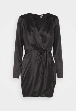 DRAPY BODY WRAP DRESS - Day dress - black