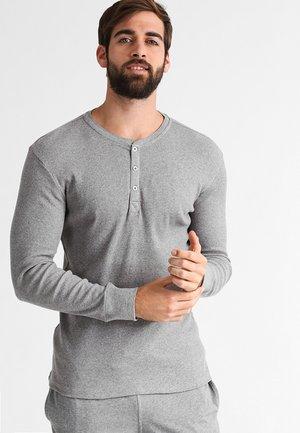 LEVIS 300LS LONG SLEEVE HENLEY - Pyjama top - middle grey melange