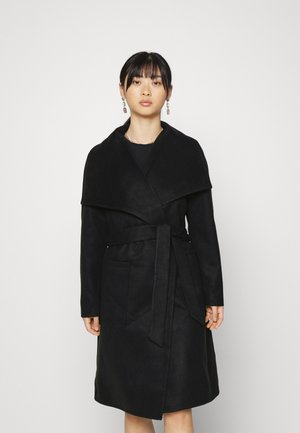 ONLNEWPHOEBE DRAPY COAT - Mantel - black