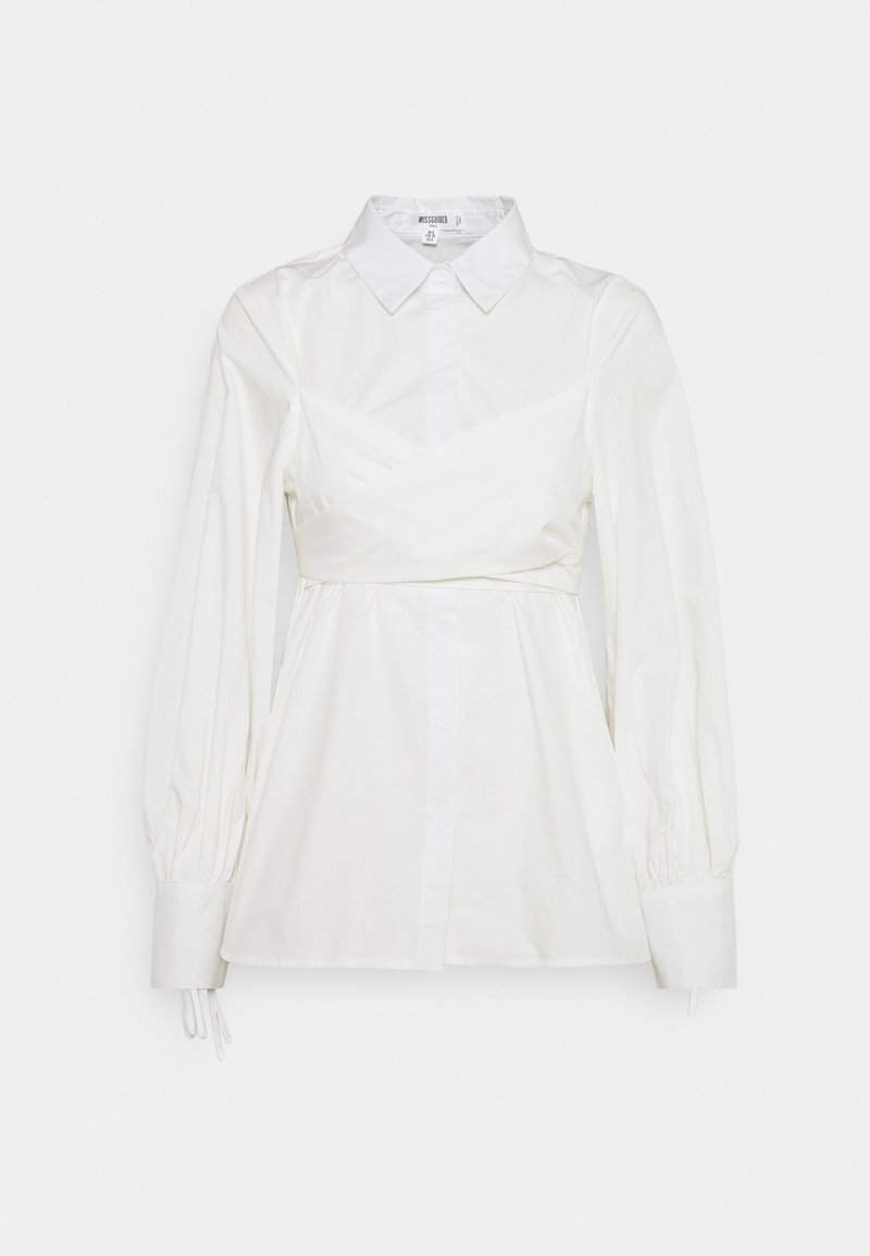 Missguided Tall - TIE WRAP DETAIL SHIRT - Blouse - white