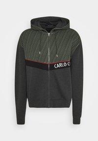 Carlo Colucci - COLOR BLOCK LOGO - Zip-up hoodie - green - 0