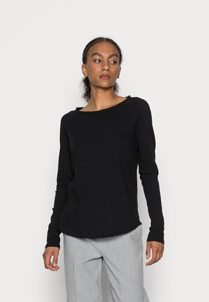 ORGANIC HEAVY LONGSLEEVE - Long sleeved top - black