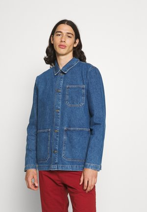 RECYCLED WORKER JACKET - Giacca di jeans - mid blue wash