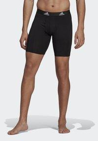 adidas Performance - BRIEF 2 PACK - Pants - black/scarlet - 2