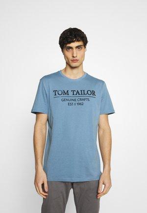 T-Shirt print - bleeched blue