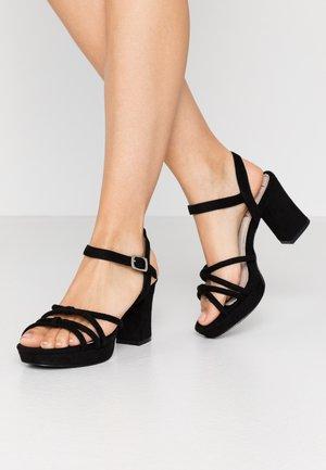 VOLGA - Højhælede sandaletter / Højhælede sandaler - black