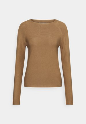LONG SLEEVE CREW NECK - Jumper - milky coffee