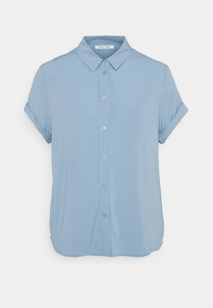 MAJAN - Button-down blouse - dusty blue