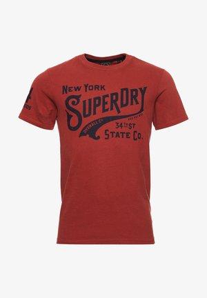 SCRIPT - Print T-shirt - smoked cinnamon