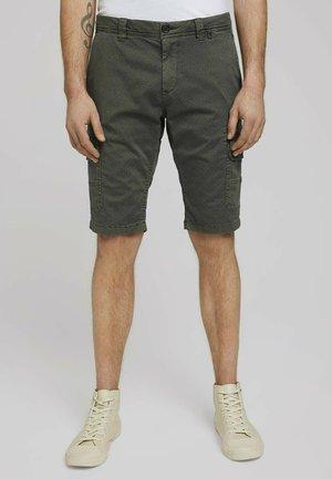JOSH - Shorts - olive tonal stucture design