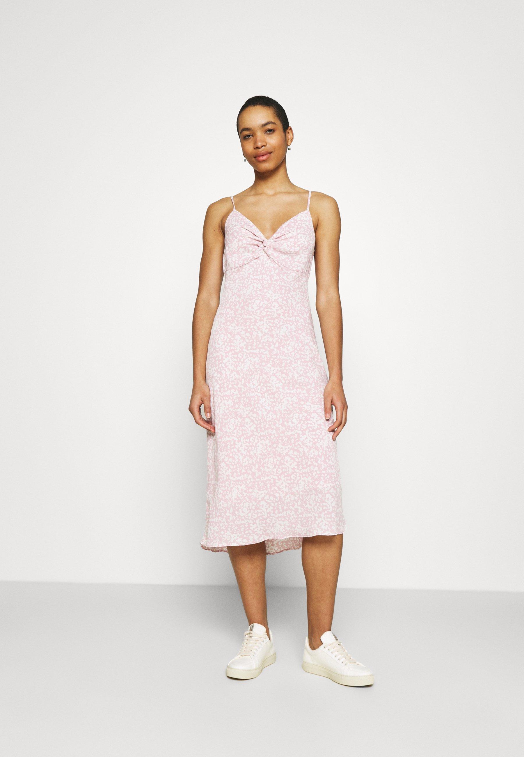 Women NECK SLIP MIDI DRESS - Day dress