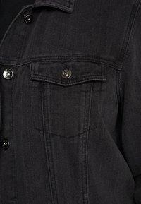 Simply Be - OVERSIZED JACKET - Džínová bunda - black denim - 6