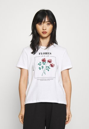 ONLKITA LIFE REG ROSE BOX - T-shirt con stampa - bright white