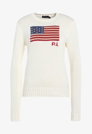 FLAG - Jumper - cream/multi