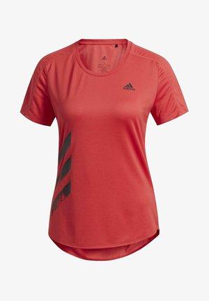 RUN IT 3-STRIPES FAST T-SHIRT - Print T-shirt - glory red