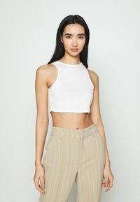 Vila - VIFELIA CROPPED TANK 2 PACK - Top - snow white/black - 2